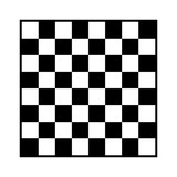 8x8 checker or chess board / chessboard black and white vector with border