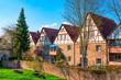 canvas print picture - Altstadt Michelstadt im Odenwald