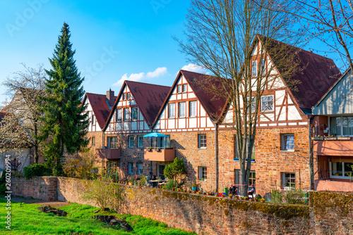 canvas print picture Altstadt Michelstadt im Odenwald