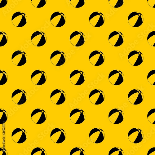 fototapeta na ścianę Ball for children to play pattern seamless vector repeat geometric yellow for any design