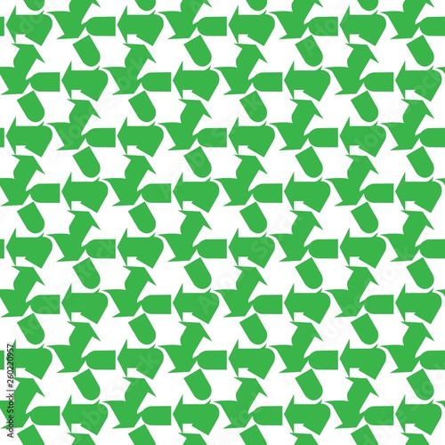 The sign of the three arrows, means recycling. Seamless Wallpaper pattern.  The ability to stretch to any size in all directions without loss of quality.  Vector illustration.   © Siberia