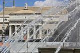 Genoa. Facade of the Carlo Felice Theater
