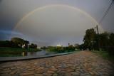 Fototapeta Tęcza - summer landscape with a rainbow © kichigin19