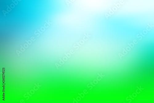 Leinwandbild Motiv spring blurred background, blue green gradient horizon, background for design, fresh spring light