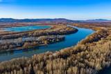 River bend landscape from above