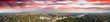 Budapest, Hungary. Panoramic aerial view of city skyline at sunset from Citadel Hill
