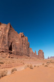Red rocks of Monument Valley on a clear summer day - 260312707