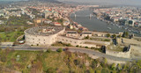 The Citadel and Budapest skyline. Panoramic aerial view of Hungarian Capital from the sky - 260312757