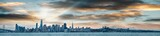 San Francisco, California. Panoramic view of Downtown skyline at sunset - 260312777