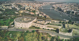Panoramic aerial view of Budapest Citadel and city skyline, Hungary - 260312993
