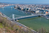 Beautiful bridges of Budapest from Buda Hill - 260313142