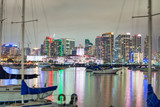 Downtown San Diego at sunset, California. View from the city port - 260314151