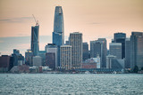 San Francisco, California. Panoramic sunset view of Downtown skyline - 260314164