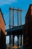 The Manhattan Bridge on a sunny day
