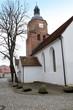 canvas print picture - Blick zur Doppelkirche in Vetschau