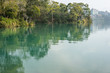 landscape of green water at Sun Moon Lake