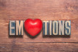 emotions heart wooden