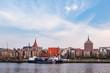 canvas print picture - Blick auf den Stadthafen in Rostock