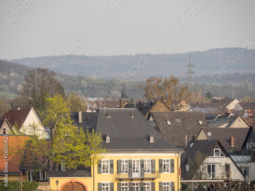 canvas print picture Rheinkreuzfahrt im Frühling