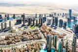 Widok na panoramę Dubaju, niesamowity widok na dach Dubaju Sheikh Zayed Road Wieżowce mieszkaniowe i biznesowe w centrum Dubaju, Zjednoczone Emiraty Arabskie