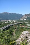 The European Route E 62 between Feriolo and Gravellona Toce, Italy