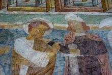 """Постер, картина, фотообои """"Romanesque fresco in Hojen church, Denmark"""""""