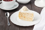 sweet honey-cake for holiday breakfast