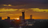 Fototapeta Fototapeta Londyn - sunset in the city london © Iliya Mitskavets