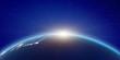 Leinwandbild Motiv Japan sunrise from space