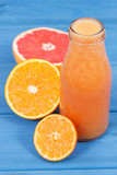 Freshly blended coctail from citrus fruits as source natural minerals. Slimming, diet and healthy nutrition