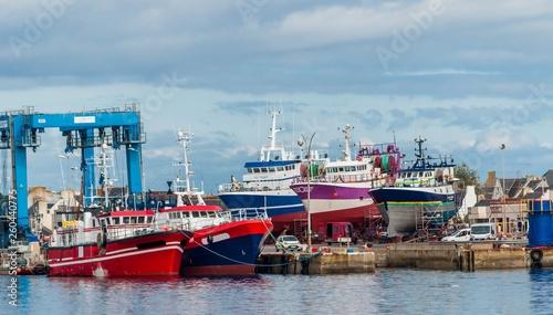 Guilvinec, le port et ses chalutiers, Finistère, Bretagne, France. © Bernard GIRARDIN