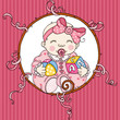 Cute baby girl background