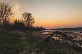 Fototapeta Fototapety na sufit - Zachód słońca nad Wisłą © Piotr