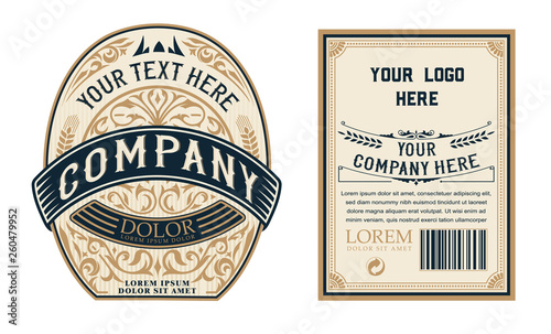 liquor/beer  vintage label. Vector layered