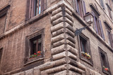 corner of old house , architecture details