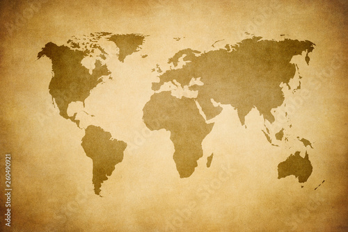 grunge map of the world © javarman