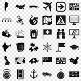 Cartography icons set. Simple style of 36 cartography vector icons for web for any design