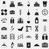 Chemical industry icons set. Simple style of 36 chemical industry vector icons for web for any design