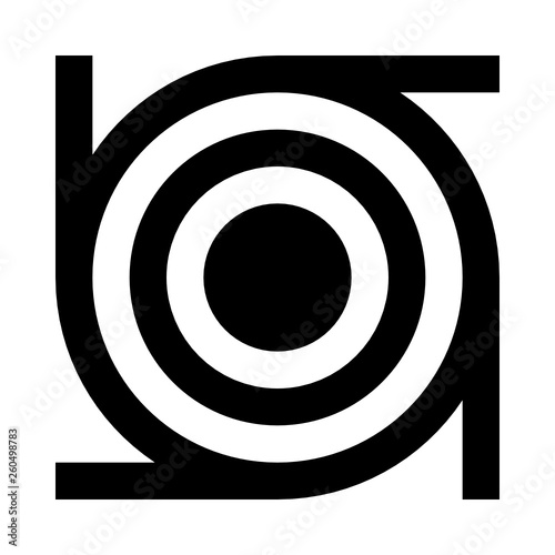 icon Abstract figure rings lines structure - 260498783