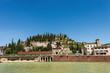 Leinwanddruck Bild - Hill of San Pietro and Roman Theatre - Verona Italy