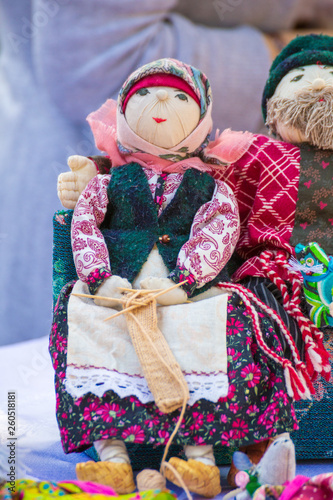 Russia, Samara, September 2018: The Lovebirth doll is a symbol of family happiness © tramp51