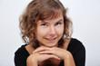 canvas print picture - junge frau lächelnd fröhlich portrait