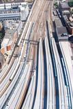 Aerial Train station england