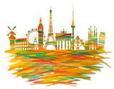 Europa Illustriert orange