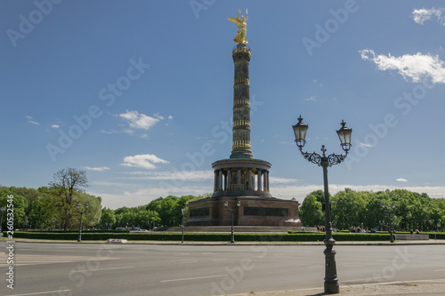 Monument in the center of the Berlin park: Victory Column - Germany © michelle7623
