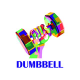 colorful dumbbell logo