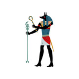 Anubis God of Death, Symbol of Ancient Egyptian Culture Vector Illustration