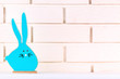 Quadro Easter wooden rabbit on brick wall background