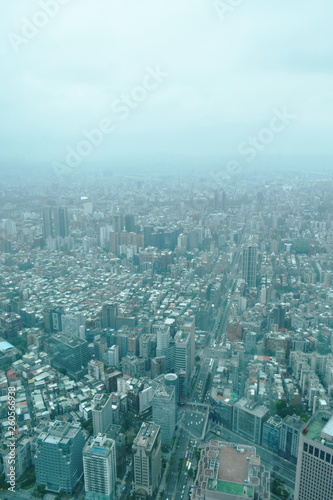 top view of Taipei cityscape from tallest building in Taiwan © pedphoto36pm