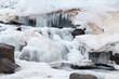 Oxararfoss Winter Waterfall Thingvellir National Park Iceland - 260569927